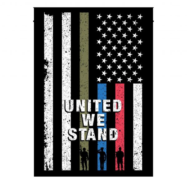 4th of July, United We Stand, American Flag, Veteran Proud, Garden Flag, Canvas Material - Woastuff
