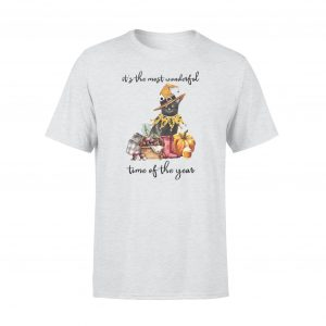 Cat lovers t-shirts, Harvest wonderful time Quote t-shirts, Size S, Gray color - Woastuff