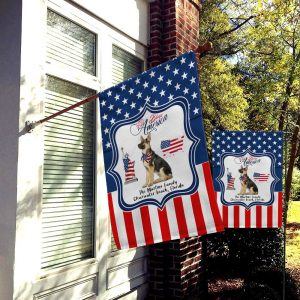 Custom Flag, Garden Flag, Family Flag, God Bless America, Dog Lovers, Custom Name USA Flag, Canvas - Woastuff