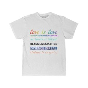 Black Lives Matter Shirt, People Are People, Love Is Love T Shirt, Unisex, White, Cotton - Woastuff