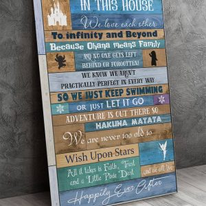 In This House We Love Each Other To Infinity And Beyond, Family Gifts, Wall Decor, Canvas, Metal Sign - Woastuff