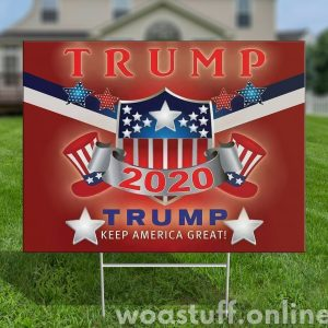 Trump 2020 Make America Great Sign, Trump Yard Sign, Political Campaign Lawn Sign, H-stake, Polypropylene - Woastuff