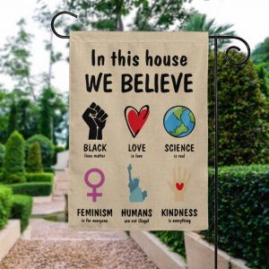 Black Lives Matter House Flag, Garden Flag Double Sided, Feminism Is For Everyone - Woastuff