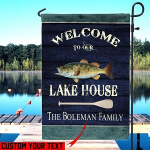 Custom Flag, Lake Flag, Summer Escape, Welcome To Our Lake House, Canvas Material - Woastuff