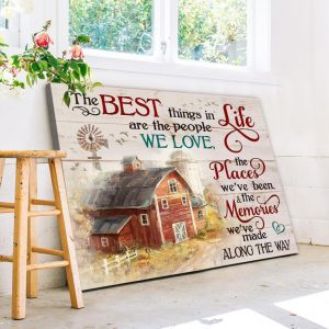 The Best Thing In Life Are The People We Love, Farmhouse Decor, Wall Decor, Farm Life, Sublimation printing - Woastuff
