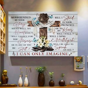 I Can Only Imagine, Lyric Poster, Mercy Me, Wall Decor, Canvas Options - Woastuff