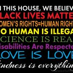 We Believe Disabilities Are Respected Black Lives Matter Yard Sign, H-Stake, 4mm Polypropylene