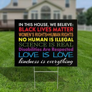We Believe Disabilities Are Respected Black Lives Matter Yard Sign, H-Stake, 4mm Polypropylene - Woastuff