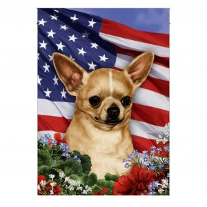 4th of July, Chihuahua, American Flag, Garden Flag, Thick Canvas - Woastuff