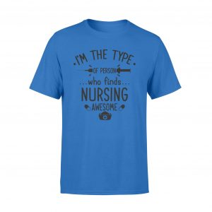 Gift For Nurses on Gift For Mom, Quote t shirts Who finds nursing awesome, Woman, Size S, Pink color, Ultra cotton - Woastuff